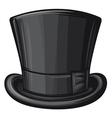 black gentleman hat vector image vector image