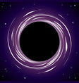 black hole background vector image vector image