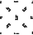 blacksmith automatic hammer pattern seamless black vector image vector image