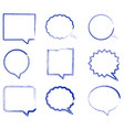 blank empty speech bubbles in hand drawn style vector image vector image