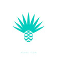 blue agave icon tequila mescal logo emblem vector image