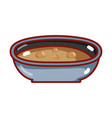 bowl with soup nutrition food isolated icon vector image