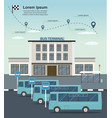 buses at the bus terminal station transportation vector image vector image