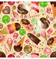 Candy and sweets background vector image vector image