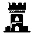 castle tower icon simple style vector image vector image
