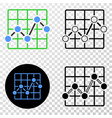 chart grid eps icon with contour version vector image vector image