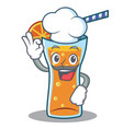 chef cocktail character cartoon style vector image vector image