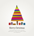 christmas modern tree vector image