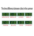 clock with time zones on a white background vector image vector image
