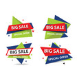 Colorful shopping sale banner template discount