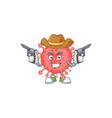 cool cowboy coronavirus disaster holding guns vector image vector image