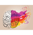 creativity and brain vector image