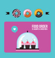 cupcakes and donuts colorful banner delicious vector image