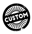 Custom stamp rubber grunge vector image vector image