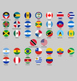 different countries flags set vector image vector image