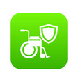 disability protection icon green vector image vector image