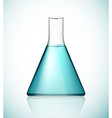 Flask with solution vector image vector image