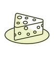 fresh cheese piece icon vector image