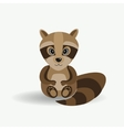 Funny forest raccoon vector image vector image