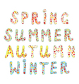 Funny labels for seasons names vector image vector image