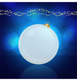 glowing christmas bauble vector image vector image