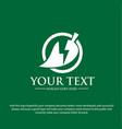 green electric logo designs vector image vector image