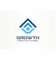 growth creative symbol concept human professional vector image vector image
