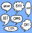 hand drawn set speech bubbles with handwritten vector image