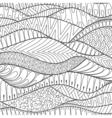 hand drawn stripe monochrome background outline vector image