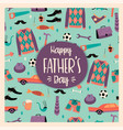 happy fathers day templates vector image