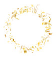 holiday realistic gold confetti flying on white vector image vector image