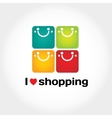 I love shopping sign with typography four vector image vector image