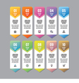 Infographic business concept vertical banner vector image vector image