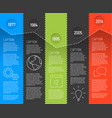 infographic timeline report template with fresh vector image vector image