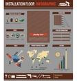 Installation floor infographic vector image vector image