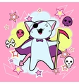 Kawaii halloween cat and creatures vector | Price: 1 Credit (USD $1)