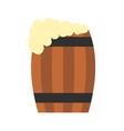 keg beer flat icon vector image vector image