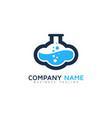 lab cloud logo icon design vector image