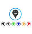 laugth smiley map marker rounded icon vector image