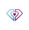 Love shield protection couple logo
