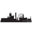 Manchester England skyline Detailed silhouette vector image vector image