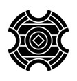 medieval battle shield glyph icon vector image vector image