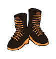 military boots isolated vector image