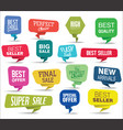 modern sale banners and labels colorful vector image vector image