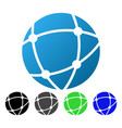 network sphere flat gradient icon vector image vector image