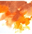 orange watercolor vector image