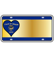oregon state license plate vector image vector image