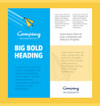 paper plane business company poster template with vector image