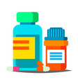 pills bottle medical capsules container vector image