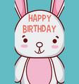 rabbit happy birthday card vector image